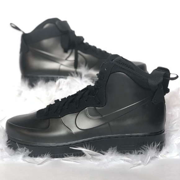 uk availability 1b5ac 2ca3c Nike mens Air Force 1 Foamposite Cup Mid Black 9